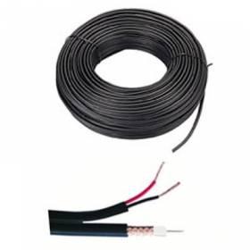 Bobina de 100 metros de cable CCTV RG174 + alimentación