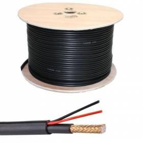Bobina de 250m cable combinado RG-59 + alimentación. Libre de Halogenos