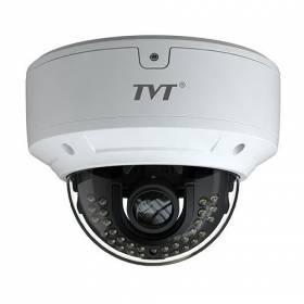 Cámara Domo Antivandálico TVT 4en1 2Mpx 1080P IR30m Lente varifocal 2,8 a 12 mm